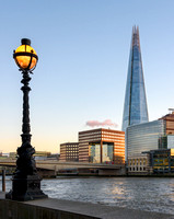 Shard of London and Street lamp