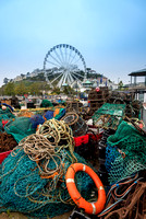 Life bouy and fishing nets