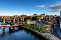 Quayside and bridges on the Tyne England UK