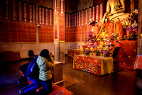 Prayer in Temple, China
