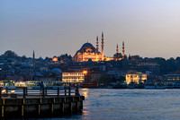The Süleymaniye Mosque in Istanbul Turkey