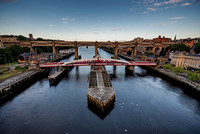 Swing Bridge at Newcastle upon Tyne UK