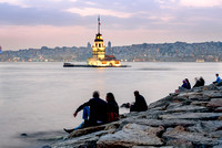 Maiden's Tower famous landmark of Istanbul: